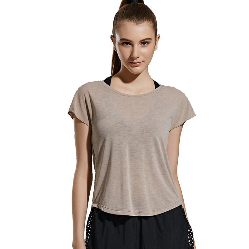 35a4369b3c 2019 New Stylish Hollow Sexy Back Yoga Top Shirts Women Quick Dry Running  Shirt Exercise Workout Gym Sport Clothing Sportswear From Moonk, $21.64 |  DHgate.