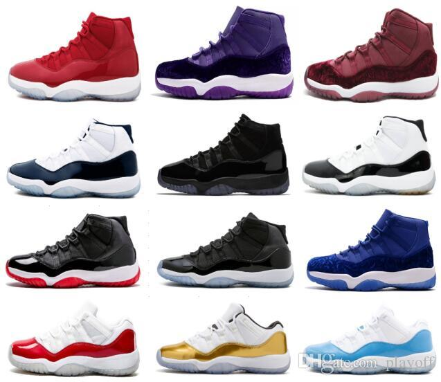 0fd2a5bfc7163f 2018 New Cap And Gown Prom Night Mens 11 11s Trainers Basketball Shoes  Iridescent UNC Gym Red Space Jam 45 Concord Sports Sneakers Shoes Brands  Basketball ...
