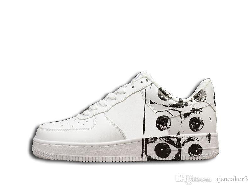 Satın Al Hava Sup Cdg X 6 Göz Beyaz Rahat Ayakkabılar Erkekler