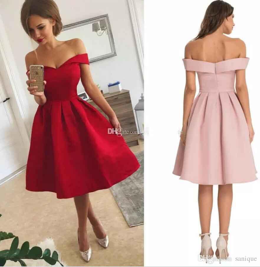 Vestidos de fiesta cortos rojos 2019