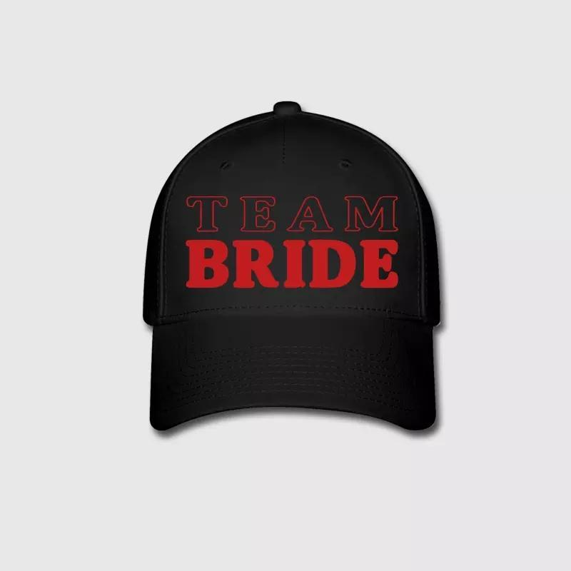 50a19c4ac45 Team Bride Letter Embroidery Customized Handmade Bacholerette Bridal Shower  Bridesmaid Hens Night Wedding Cotton Curved Dad Hat Trucker Hats Flexfit  From ...