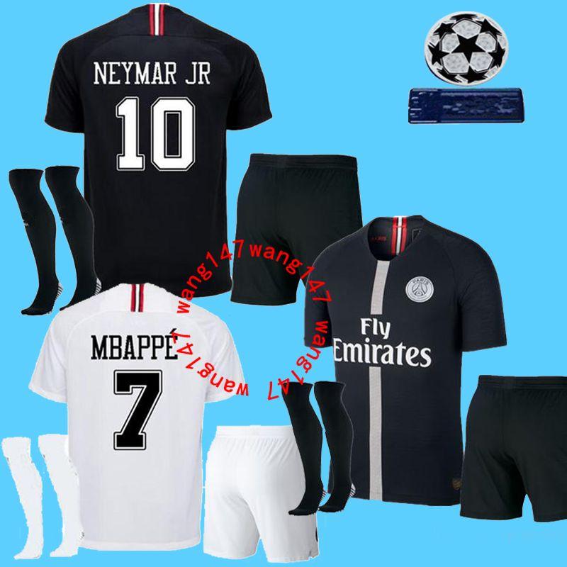 8636e3319 2019 18 19 Adult Kits+Sock MBAPPE PSG Soccer Jerseys Men Kit 2018 2019  CAVANI DANI ALVES Champions League Men Football Shirt Uniforms From  Wang147