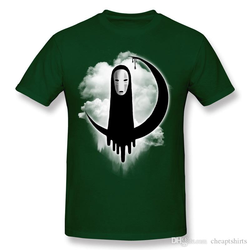 Wholesale Men 100 Cotton Faceless Tee Shirts Men Round Neck Dark Green Tees Short Sleeve Plus Size Cool Tee Shirts