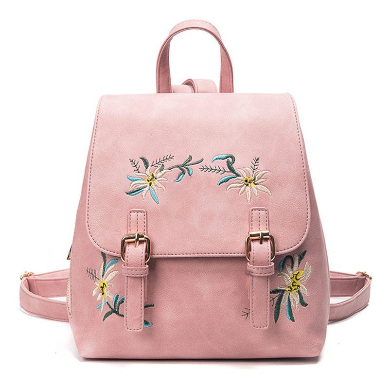 2018 New Backpack Women Fashion PU Leather School Bag Small Backpack Cute  High Quality Female Backpacks For Adolescent Girls Womens Backpacks Pink  Backpacks ... 123aeebebd339