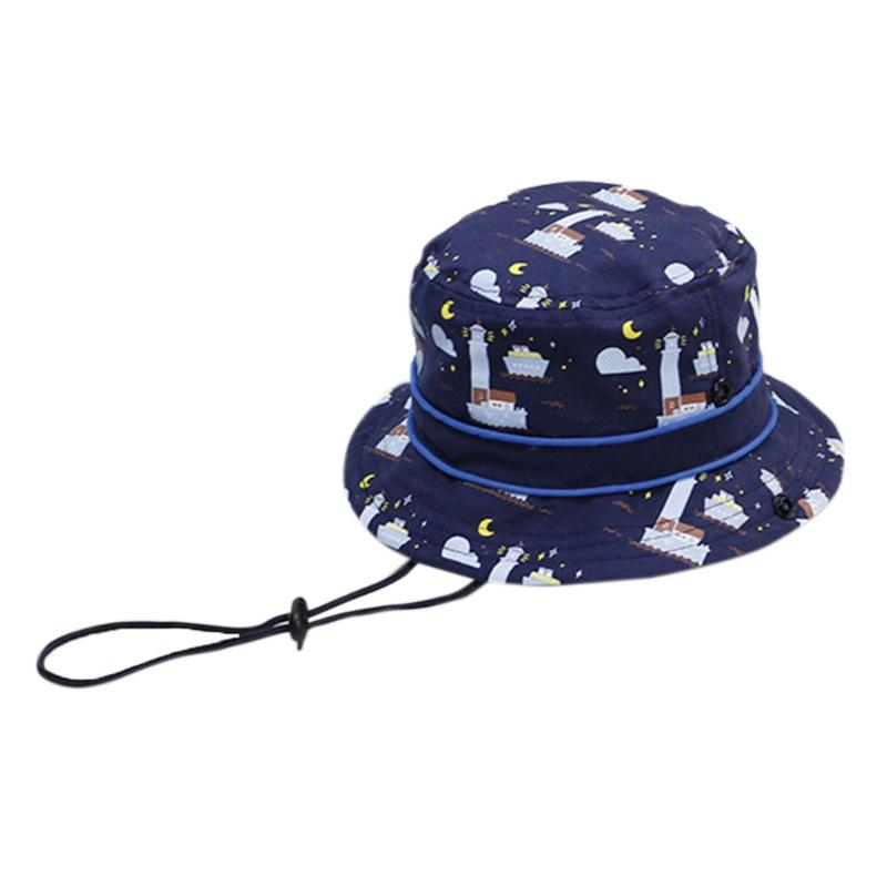 ba8f9113 Baby Sun Hat Toddler Kids Summer Caps Protection Bucket With Chin Strap  Ocean Stetson Hats Trilby From Naixing, $27.97| DHgate.Com