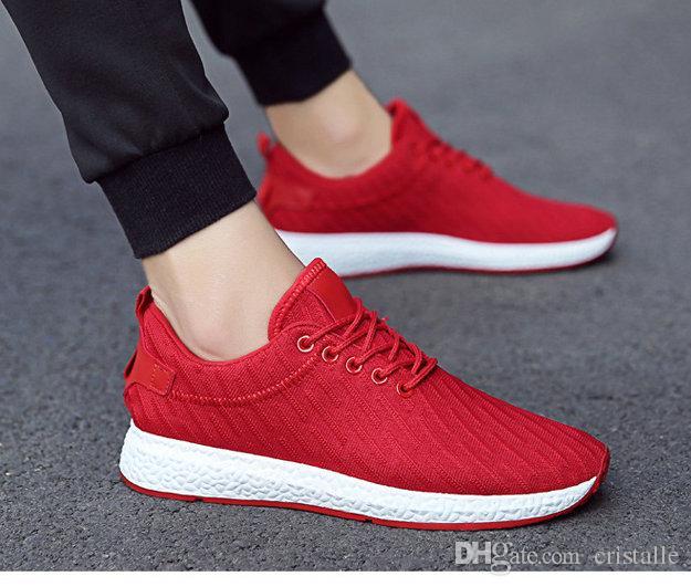 uk availability cd7cd c36d3 Bequeme bequeme Schuhe der heißen Männer 2018 breathable weiche haltbare  hohle Maschenart und weise beiläufige Schuhe, rot, schwarz