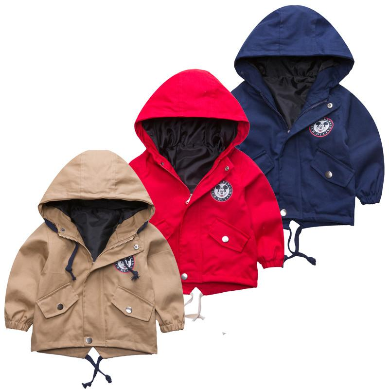 2a7912204 2018 New Boys Girls Jackets For Children Hooded Cute Mickey ...