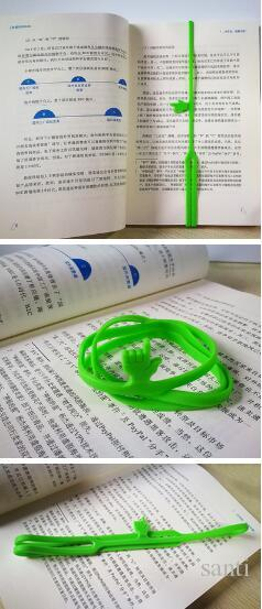 Popular Silicone Bookmarks Elasticity Bookends Book Clip Organizer Reader Tool office Items Stuff Accessories Supplies Products