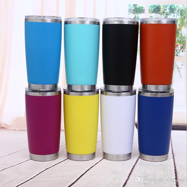 600ml New Arrived Sliver Metal Insulated Travel Mug Water Bottle Beer Coffee Mugs with Lid for Car Cups Coffee cup Drinkware