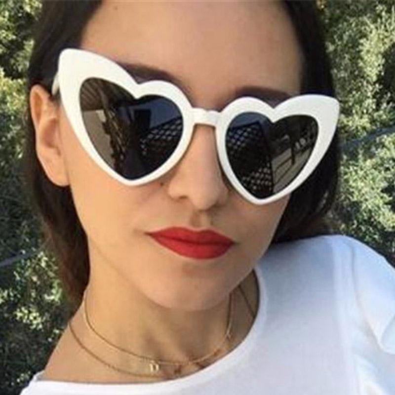 31df772e497 Love Heart Sunglasses Women Brand Design Retro Black White Eyewear Vintage  Party Sun Glasses Superstar Shades 2018 New Sunglasses Hut Reading Glasses  From ...