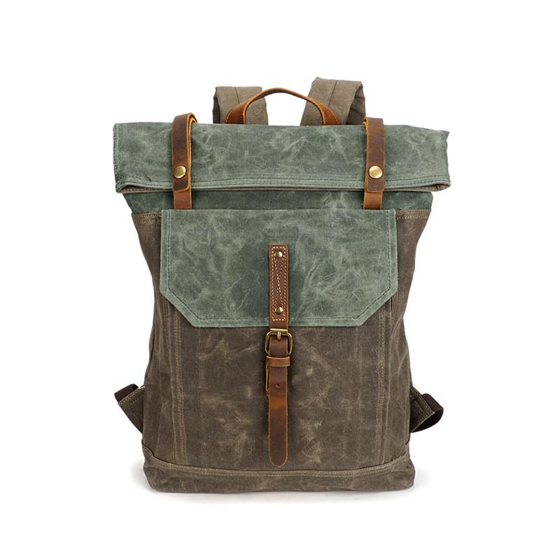 2018 Mens Backpack Vintage Shoulder Bags Student School Bag Travel Bags For  Men Waterproof Canvas Bagpack Cool Fashion Outdoor Sport Bags Best Backpack  ... 583d356ad596c