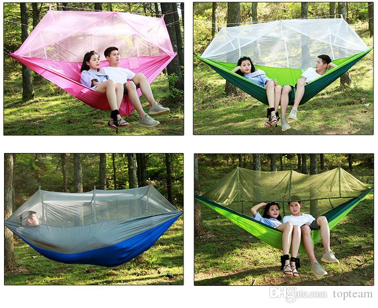 Lightweight Outdoor Hammock Rollover Field Camping Parachute Deployment Mosquito Mosquito Net Swing Chair Outdoor Patio Furniture
