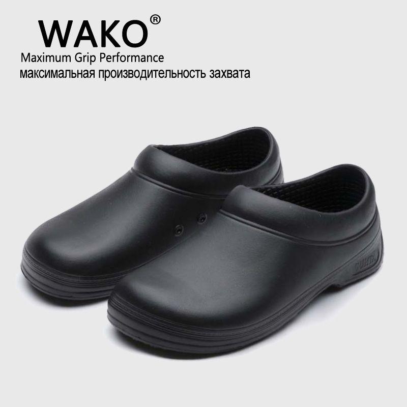 Wako Hot Sale Men Chef Kitchen Working Shoes Casual Flat Work Shoe