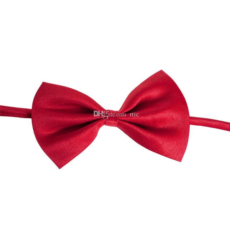 Venta al por mayor tocado para mascotas es del caramelo Moda corbata de perro Corbata de lazo para perros Corbata de gato Artículos de aseo para mascotas