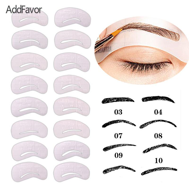 image regarding Eyebrow Template Printable named AddFavor 24laptop or computer/Fixed Eyebrow Template Paint Aide Card Eye Forehead Stencil Card Make-up Extras Magnificence Device Plastic Eyebrow Stencil