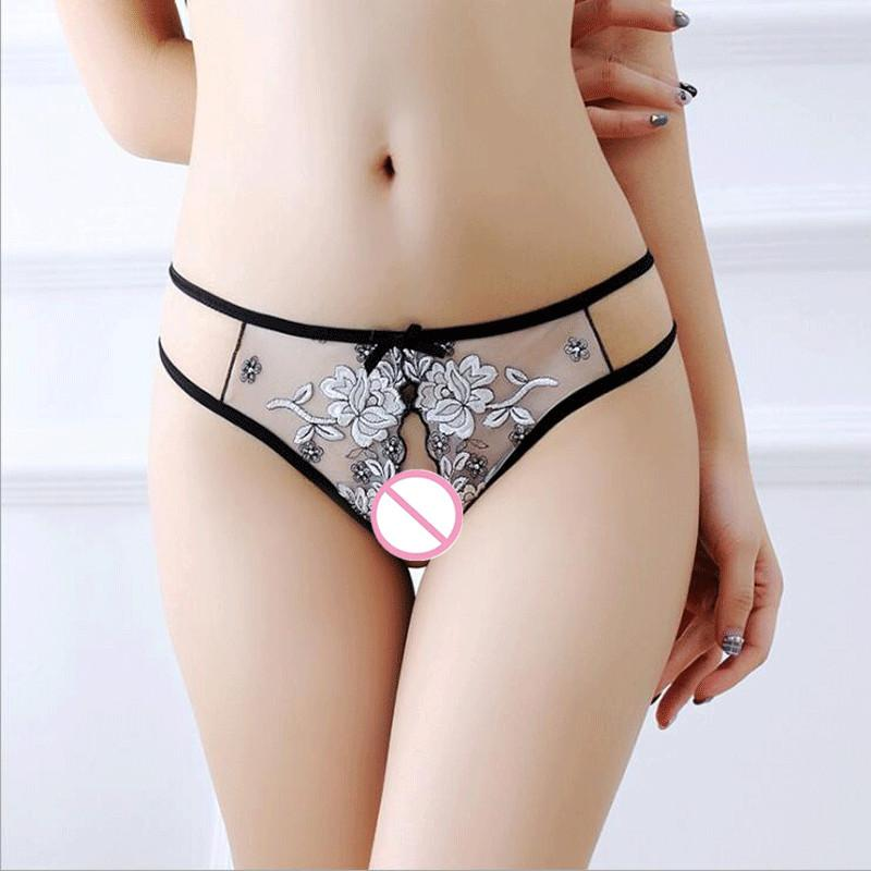 cafef4290 2019 Sexy Female Open Crotuch Briefs Sexy Panties Women Embroidery Lace Underwear  Womens Underware For Lady Lingerie Intimates From Insightlook