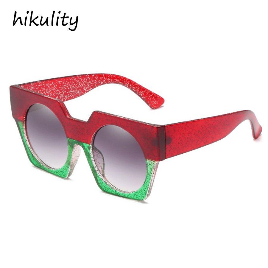 fbe5e64c53b1 Big Red And Green Sunglasses Women 2018 Vintage Square Brand Designer Sun Glasses  Female Ladies Lunette Mens Sunglasses Police Sunglasses From Ancient88