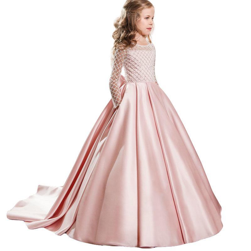 Acquista Bambini Abiti Da Festa Le Ragazze Principessa Abito Bambini Abito  Da Sposa Fiore Ragazze Vestono Ragazza Costume 6 7 8 9 10 11 12 Anno  Y1892112 A ... fedb6224604