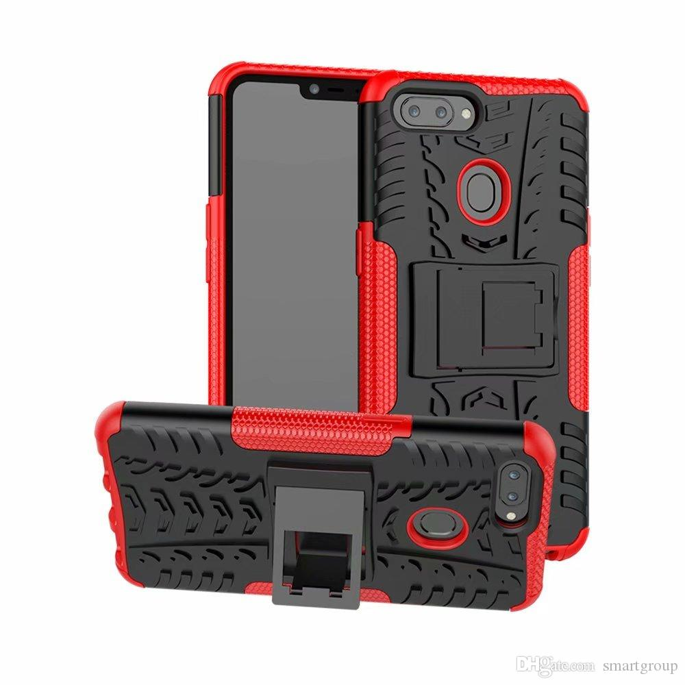 new concept ea4d1 4cfeb For OPPO Realme 2 Case Rugged Combo Hybrid Armor Bracket Impact Holster  Protective Cover Case For OPPO A5 Realme 2