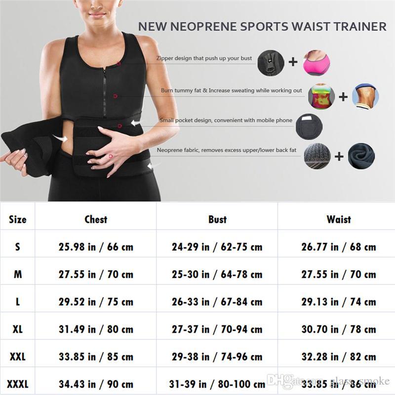 Waist Cincher Sweat Vest Trainer Tummy Girdle Control Corset Body Shaper for Women Plus Size S M L XL XXL 3XL