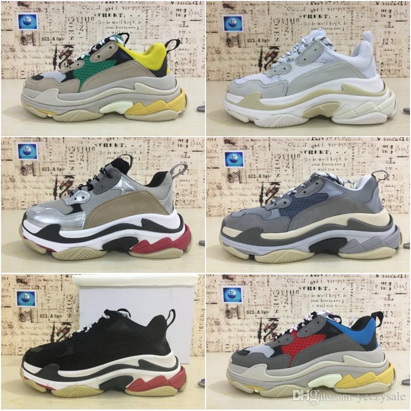finest selection 6afad 0f706 2018 Mejor Lujo Triple S Designer Zapatillas Bajas Suela Gruesa Botas  Hombres Mujeres Zapatos Para Correr Zapatos Deportivos De Calidad Superior  Por ...