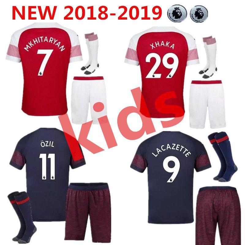c5f59e97ebe 18 19 Arsenal MKHITARYAN Soccer Jersey Kids Women Football Shirt ...