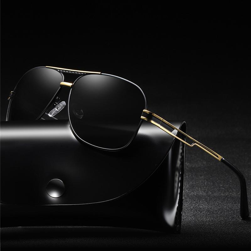 c9a0b05935 Hindfield 2018 Square Polarized Sunglasses Men Metal UV400 High ...
