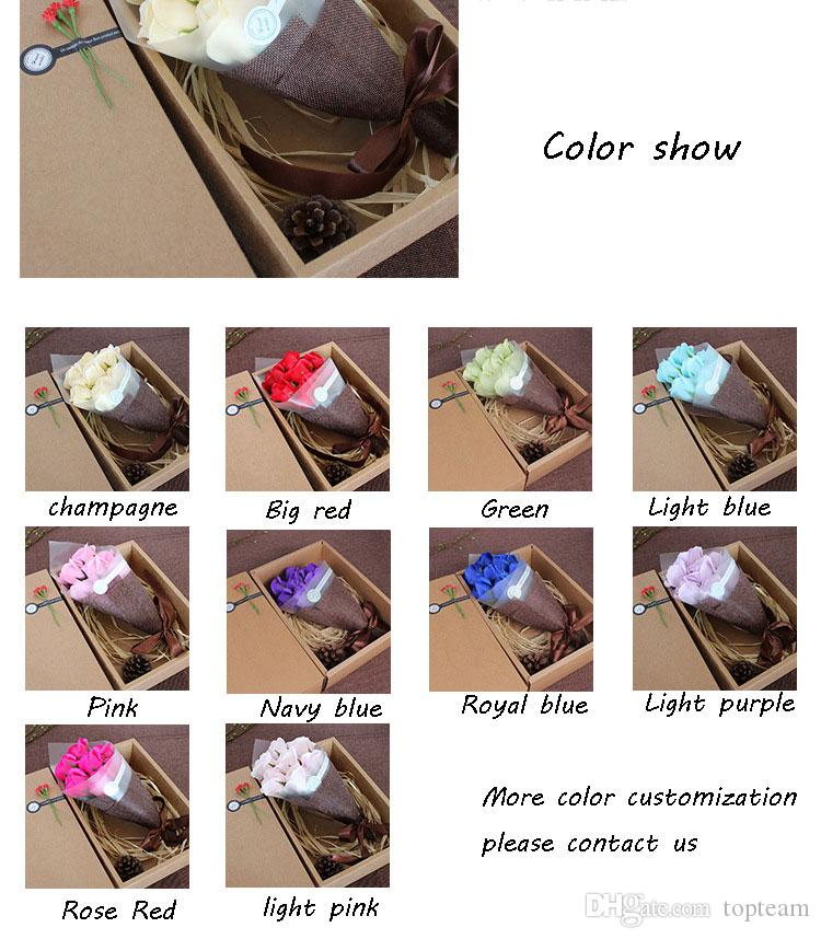 2018 Creative Birthday Gifts Girls Mothers Day Special Send Friends 7 Soap Bouquets 10 Styles