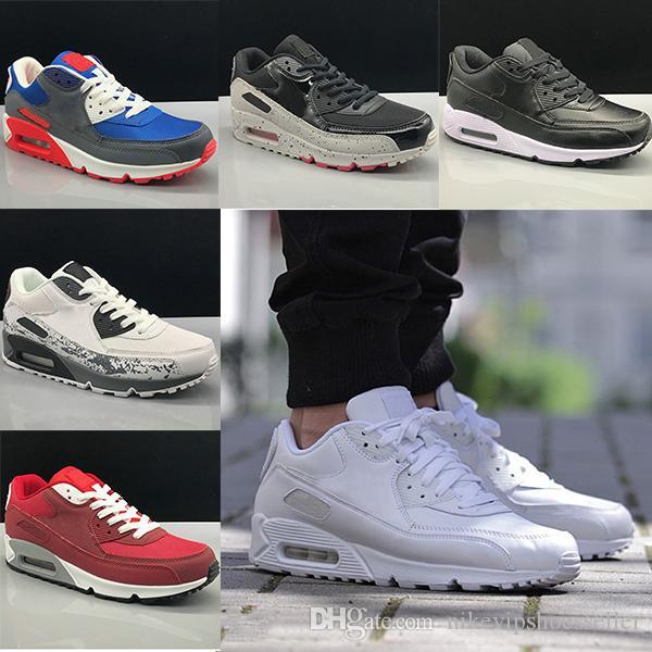 Nike Air Max 90 Running shoes Nuovi Uomini donna Scarpe classiche max 90 Uomini e donne scarpe sportive Nero Rosso Bianco Sport trainer Air Cushion