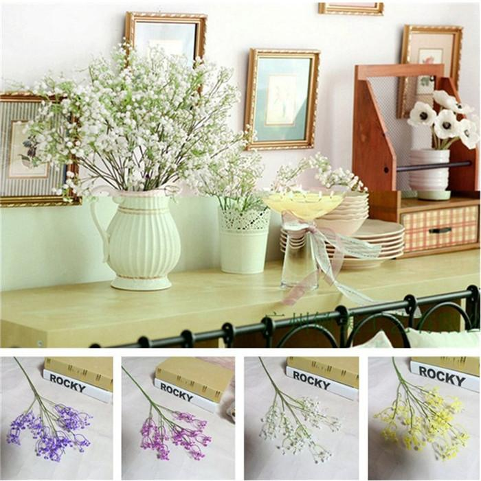 Tisch Blumen Hochzeit | Grosshandel Neue 4 Farben Kunstliche Blumen Tisch Blumen Brautstrauss