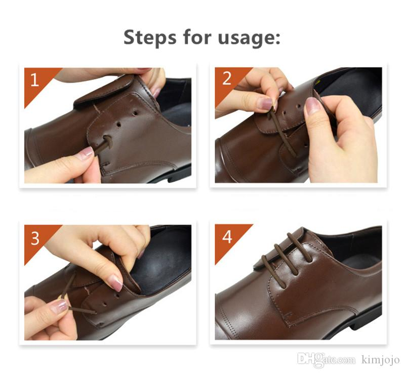 Fashion Unisex No Tie Lazy Shoelaces Elastic Silicone Shoe Lace All Sneakers Strap Athletic Running Shoelace