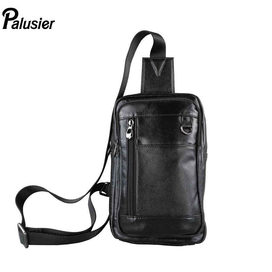 b14a954242ff New Genuine Leather Men Casual Crossbody Bag Fashion Design Cowhide Travel  Sling Chest Pack Shoulder Messenger Bag Backpack Purse Leather Tote From  Diyplant ...