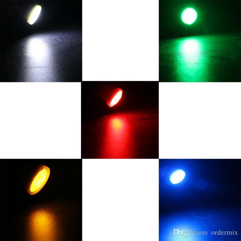 세라믹 자동차 인테리어 LED T10 COB W5W 168 웨지 문 악기 측면 전구 램프 자동차 라이트 플레이트 라이트 화이트 / 블루 / 그린 / 레드 / 옐로우
