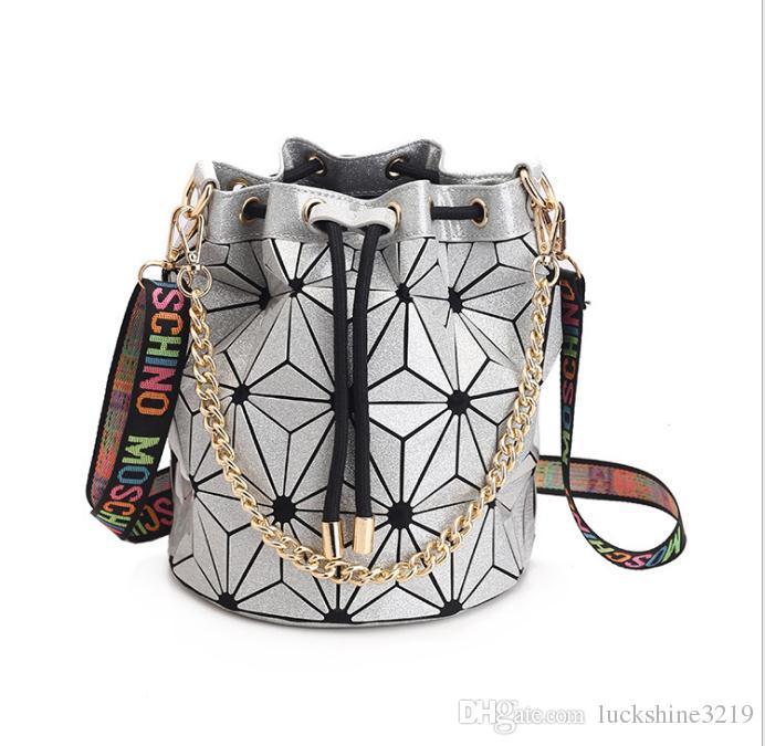 0dc4c819c856 Hot Sale Famous Brand Bao Bao Women Female Bag High Quality Geometric  Handbags Plaid Chain Shoulder Crossbody Bags Laser BaoBao Diamond Bag  Canada 2019 From ...