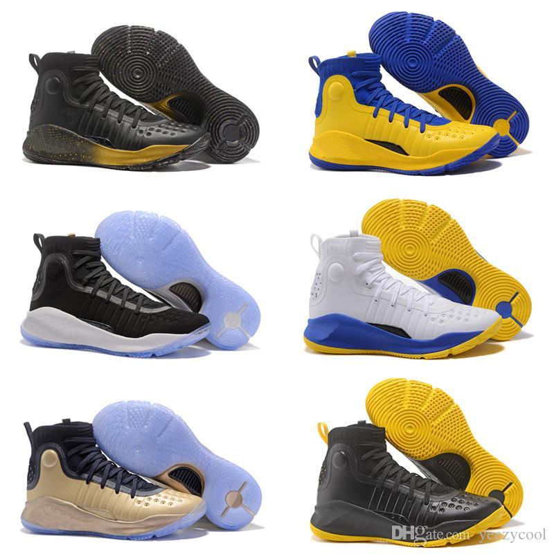 best loved 940db 673b3 Großhandel Stephen Curry 4 Männer Basketballschuhe Mehr Dimes Mehr Dubs  Star Gold Meisterschaft MVP Finale Athletic Sport Sneakers Trainer  Designerschuhe ...