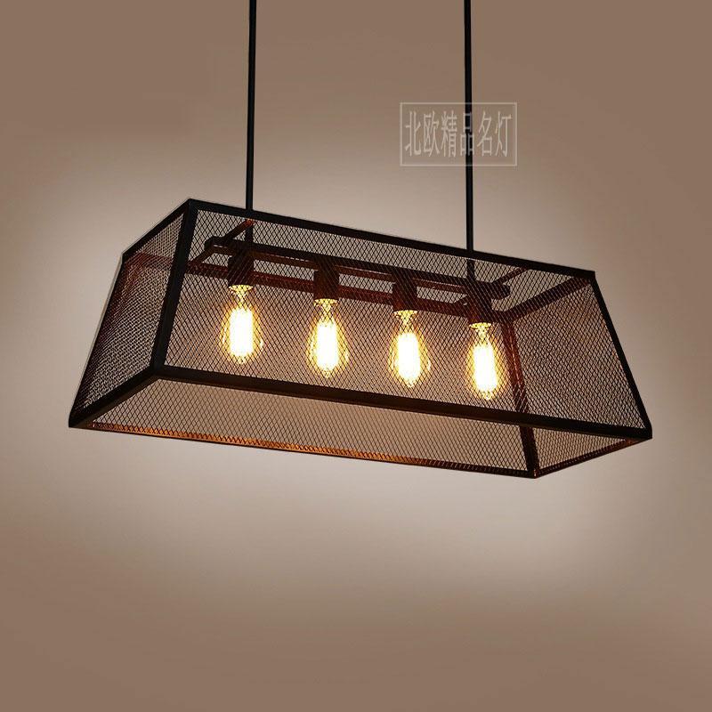 Vintage Pulley Pendant Lights Loft Style Light Kitchen Dining Room