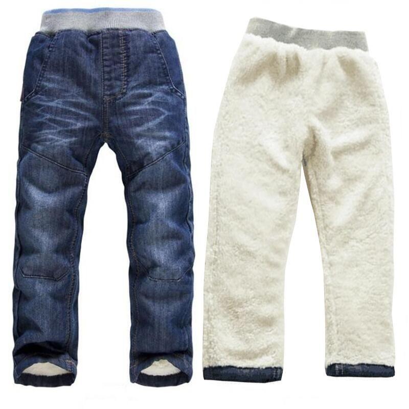 7671e3351 BibiCola Baby Boy Jeans Winter Denim Pants Children'S Thicken Warm Trousers  Newborn Kid Winter Long Pants Bebe Warm Legging Y18103008 Cheap Jeans For  Boys ...