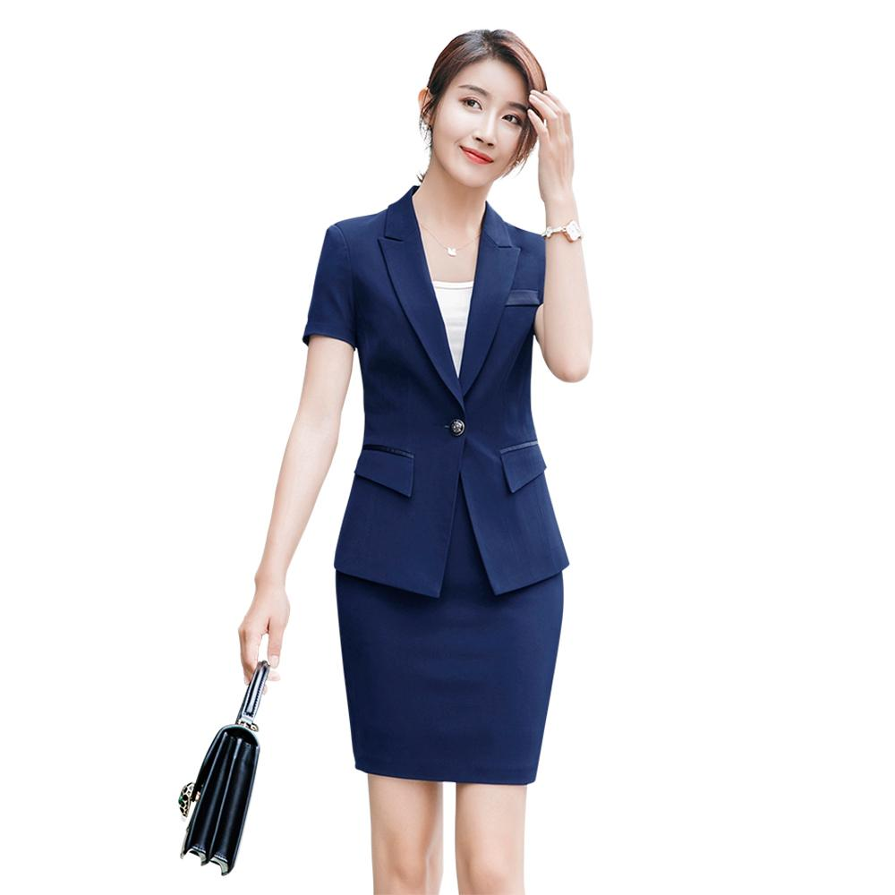 3caac434f7c 2019 Women Office Dress Suits  Amp  Blazer Plus Size Striped Pencil Dress  Blazer Elegant Two Piece Set Summer Bodycon Office Dress Set From  Clothesg519