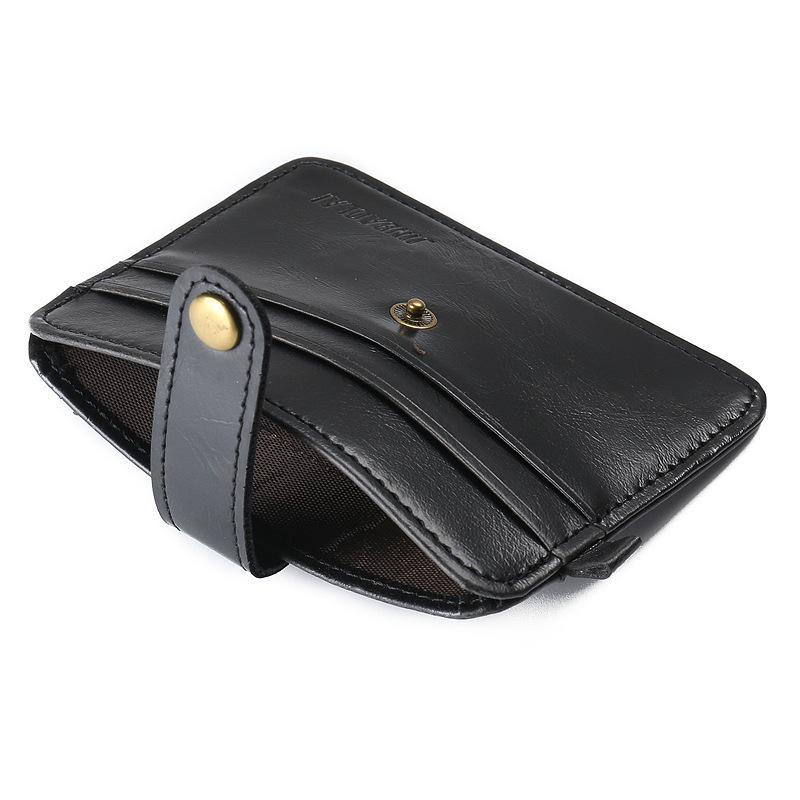 Mini carteiras hasp pequena carteira de couro bolsa homens bolsas de embreagem masculina mulheres estilo do vintage do couro do cavalo louco Novo