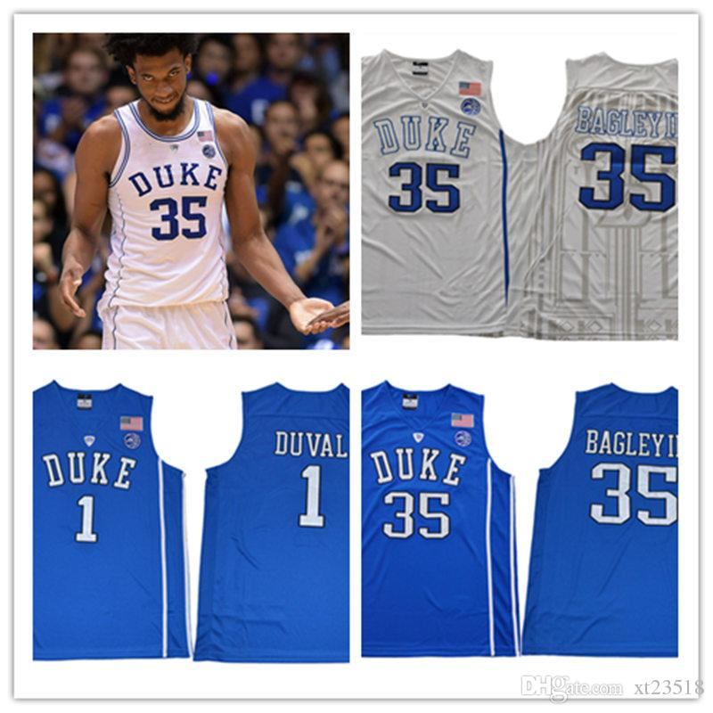 3083cc5ca9df Mens 2018 NEW NCAA ACC Duke Blue Devils Marvin Bagley III College  Basketball Jerseys Stitched Cheap  1 Trevon Duval Duke Jerseys S-3XL Marvin  Bagley III ...