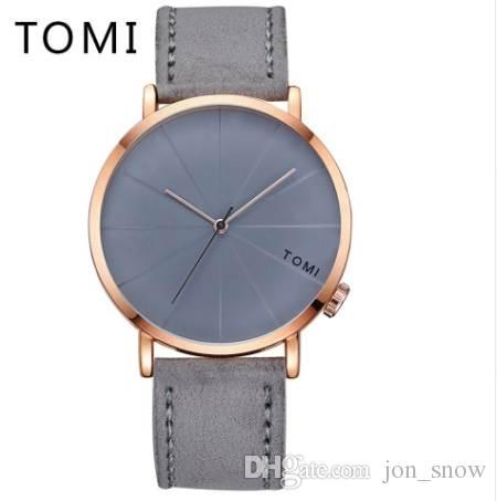 b2991f9b3640 Compre Tomi Men Relojes De Primeras Marcas De Lujo Correa De Cuero  Deportivo Reloj De Pulsera De Lujo Reloj De Negocios De Moda Casual Reloj  De Cuarzo T010 ...
