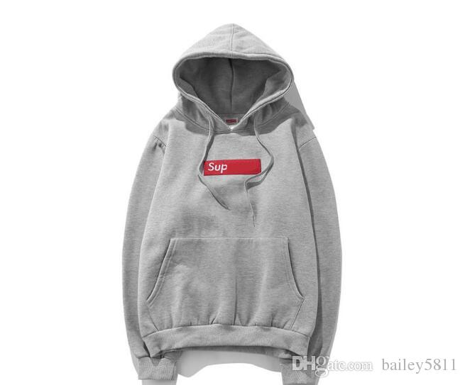 18Top Seller Fashion Sup Hoodies with logo Box Sweatershirt Pullover Hip HOP Justin Bieber Streewear YEEZUS Wear With Cutton