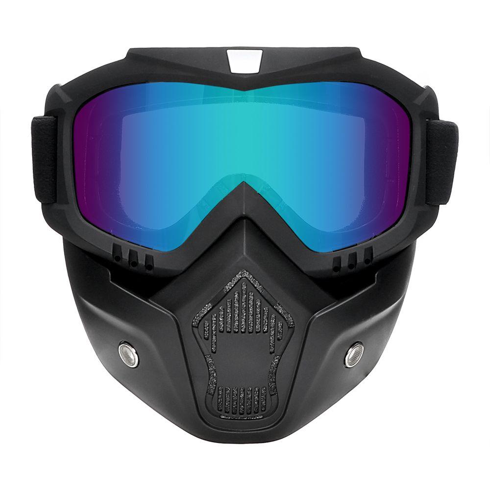 586c7963c5231 Compre Óculos De Motocicleta Motocross Moto Moto Óculos De Proteção  Destacável Goggle Proteção Uv Ski Bike Para Halley Rosto Aberto Máscara De  Capacete De ...