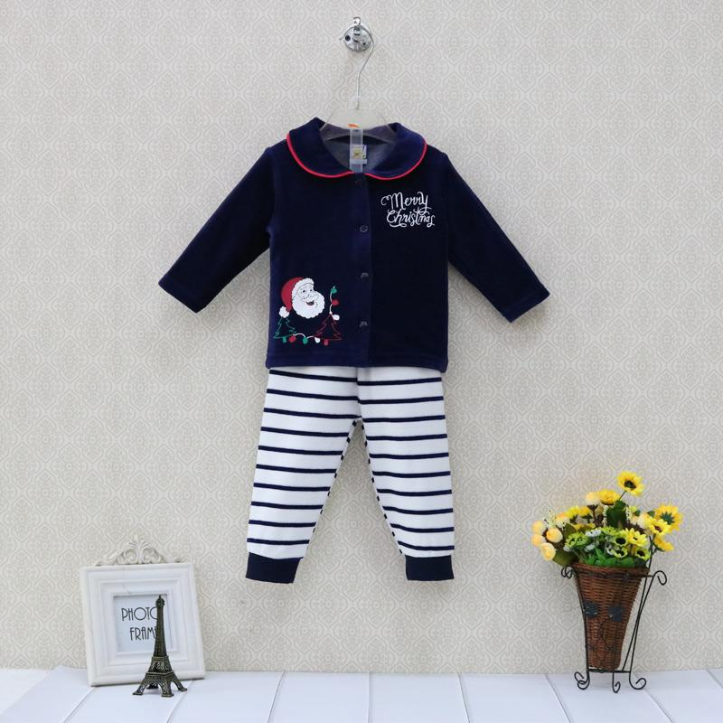 624142030 2019 Little Q Velour Baby Christmas Sets Toddler Long Sleeve Blouse+ Long  Boys Striped Elastic Waist Pants Outfits Girls Clothes From  Vihoo18929208226, ...