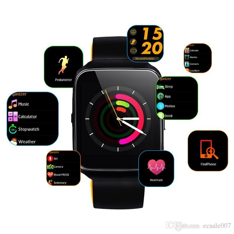Compre Z40 Relógio Inteligente 1.54 Polegada IPS Bluetooth Pressão Arterial  Monitor De Freqüência Cardíaca Smartwatch Chamada Lembrete Mensagem  Inteligente ... 41df48ee2e