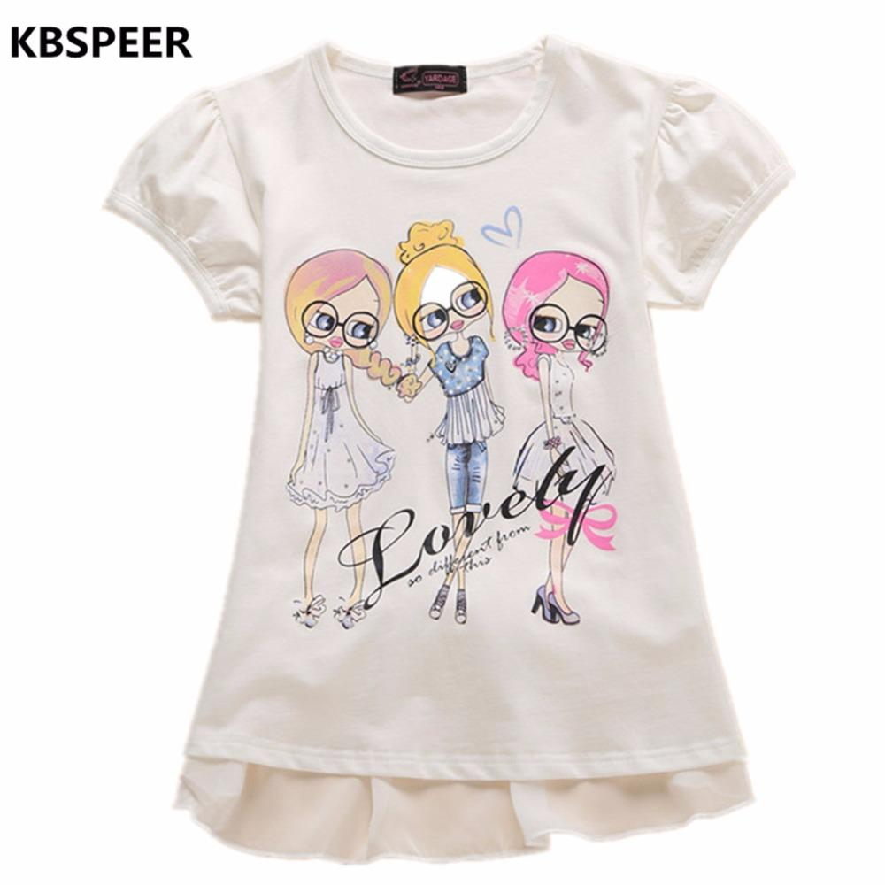 679e20414 2019 2017 New Brand Girls T Shirt Short Sleeve Top Summer Baby Girl ...