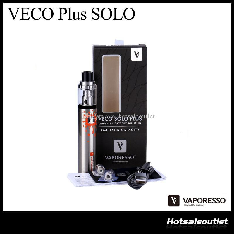 Authentische Vaporesso VECO PLUS SOLO Starter Kit W / 4 ml-Behälter Built-in 3300mAh Akku Original-Feder-Art-Vape Starter Kit