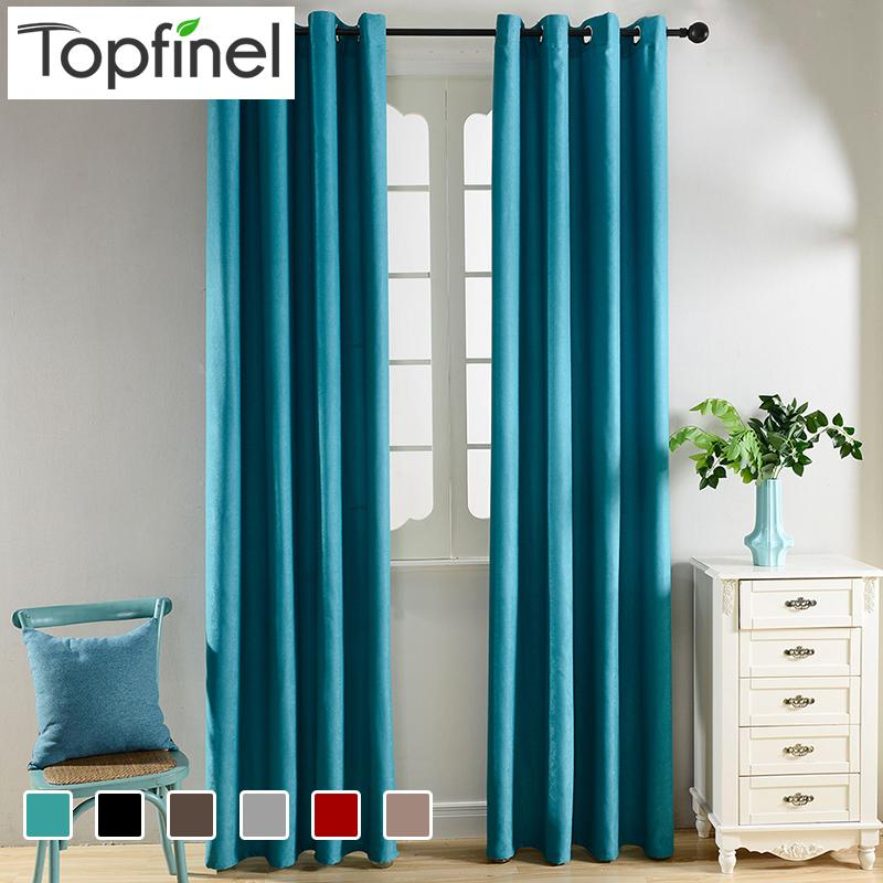 Top Finel Solid Blackout Curtains For Living Room Bedroom Velvet Fabrics  For Curtain Window Treatments Cortinas Drapes Children Blackout Curtains  Bedroom ...