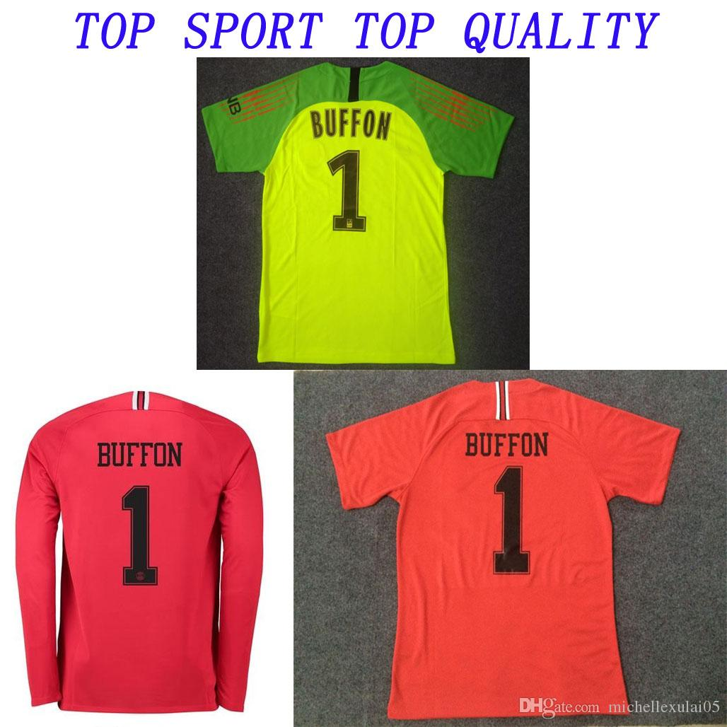cd833dabc61 2018 19 Goalie Football Shirt 18 19 Buffon Areola Jersey Adult Goalkeeper  Soccer Jersey Champion League Kit Thailand Maillots Canada 2019 From ...