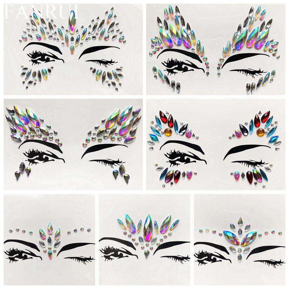 Acheter Sexy Flash Strass Eye Jewely Tatouage Autocollants Pour La